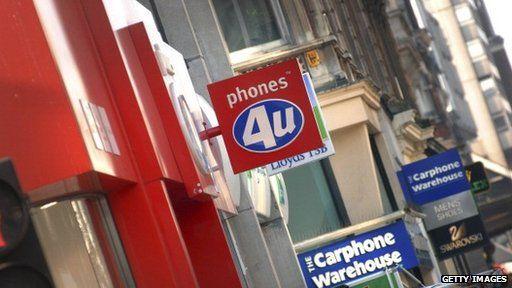 phones 4U shopfront