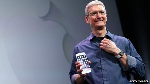 Tim Cook with iPhone 6