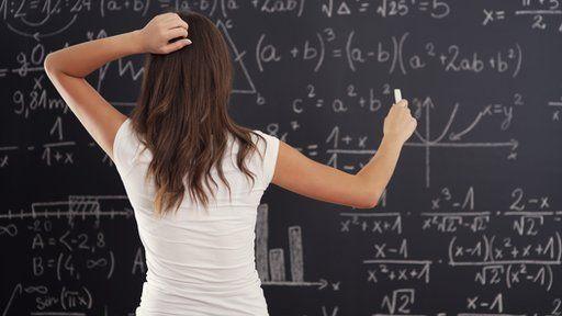 woman at blackboard