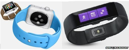 Apple Watch and Microsoft Band