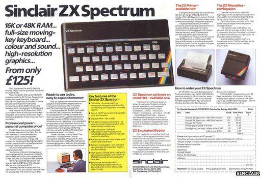 ZX Spectrum advert