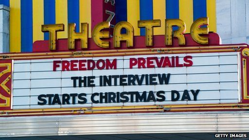 The Interview on cinema billboard