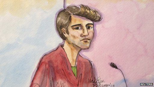 Courtroom sketch of Ross Ulbricht