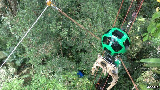 Google camera on zipwire