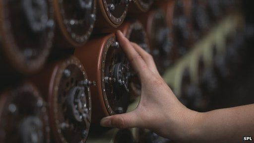 The Bombe - an Enigma decoding machine