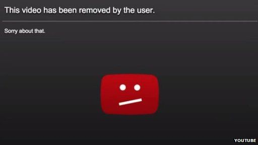 YouTube video deleted