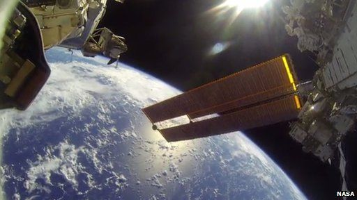 Go Pro picture from space walk