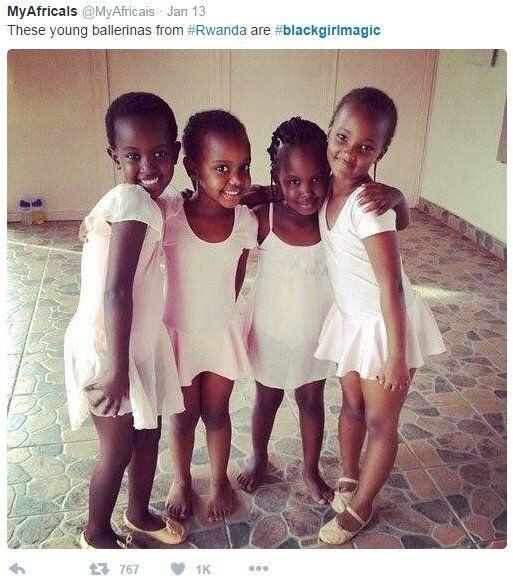 Young black ballerinas from Rwanda