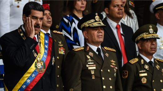 Mr Maduro gestures during ceremony in Caracas - 4 August