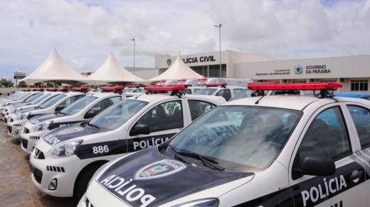 Entrega de viaturas da polícia na Paraíba