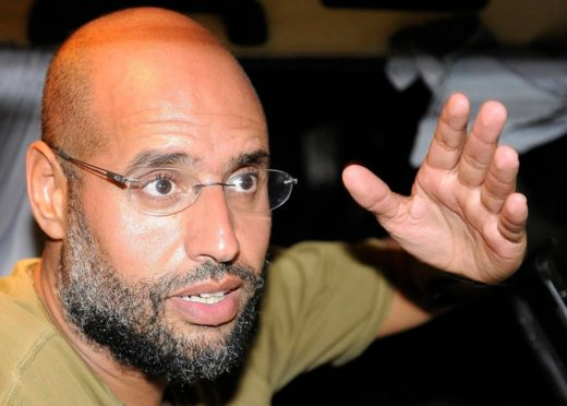 Saif al-Islam pictured before his capture in 2011
