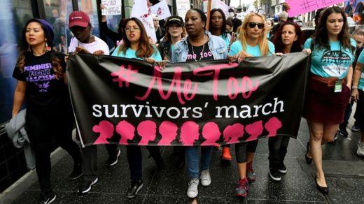"""Un marcha de activistas del movimiento """"YoTambién"""""""