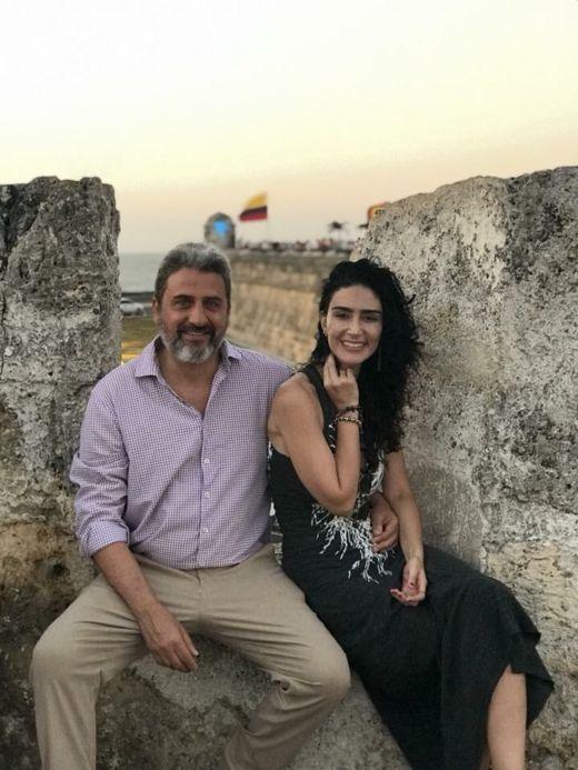 A atriz Cristiane Machado e o marido dela, Sergio Schiller Thompson-Flores