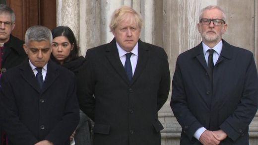Sadiq Khan, Boris Johnson, and Jeremy Corbyn