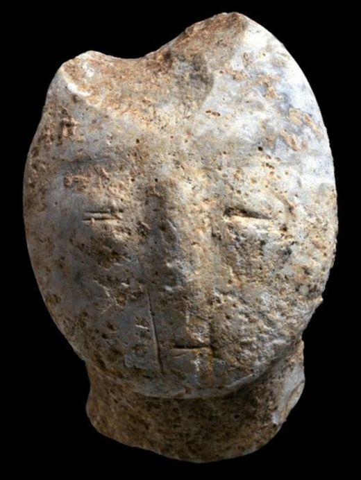Figurine, depicting a human face
