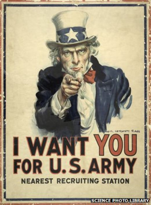 Us Army Recruiting Poster Image Copyright Science Photo Library The Ilrator S Work Also Compared Favourably With Official Recruitment
