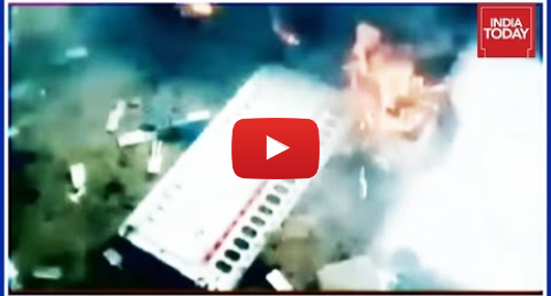 யூடியூப் இவரது பதிவு India Today: 33 EVMs Set On Fire In J&K's Budgam, Shocking Video Out