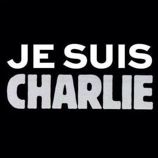 Je Suis Charlie poster image being shared on Twitter