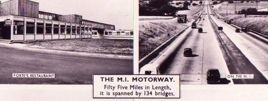 Postcard of M1 services