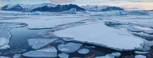 File image depicting melting sea ice