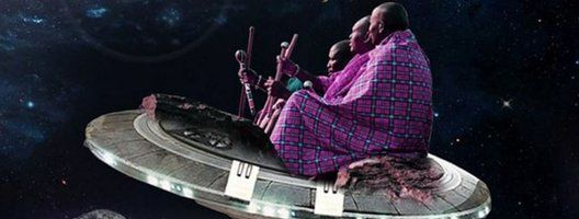 Artist's depiction of Maasai in space