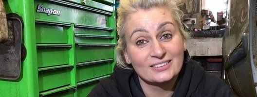 Louise Barker says women shouldn't mind getting dirty and enjoy working with cars.