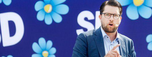 Sweden Democrat leader Jimmie Akesson