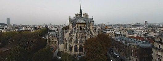 Notre-Dame de Paris photographed before the fire
