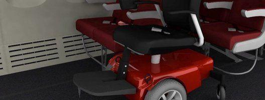Wheelchair on plane