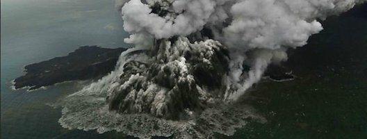 Anak Krajatau erupts