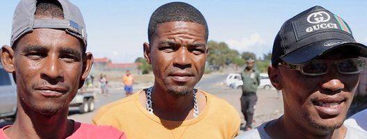 Gang members pose in Cape Town