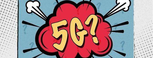 5G logo cartoon