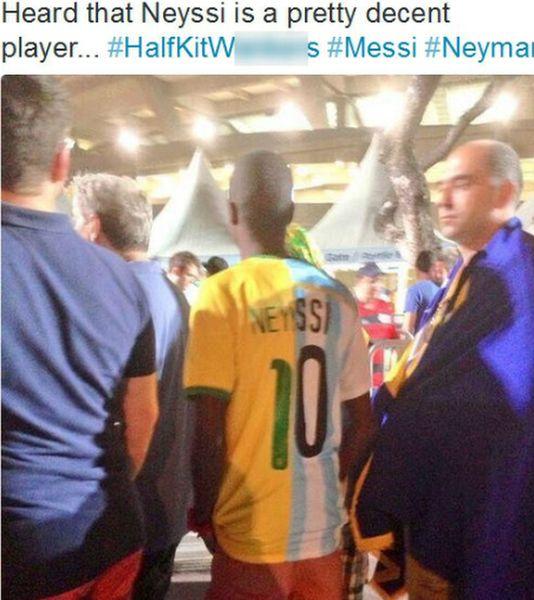Image showing Brazil-Argentina hybrid shirt