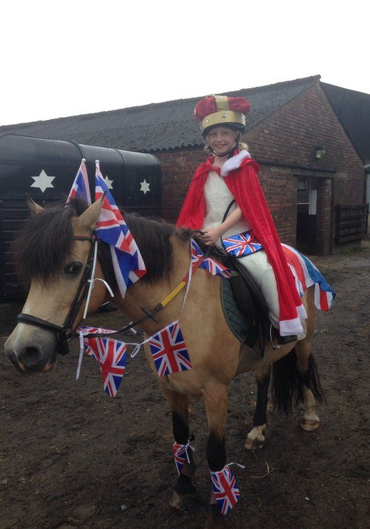 Lisa O'Neill snapped this picture of her daughter Pippa at a Cheshire riding school. Credit: Lisa O'Neill