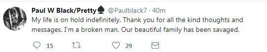 Paul Black's tweet