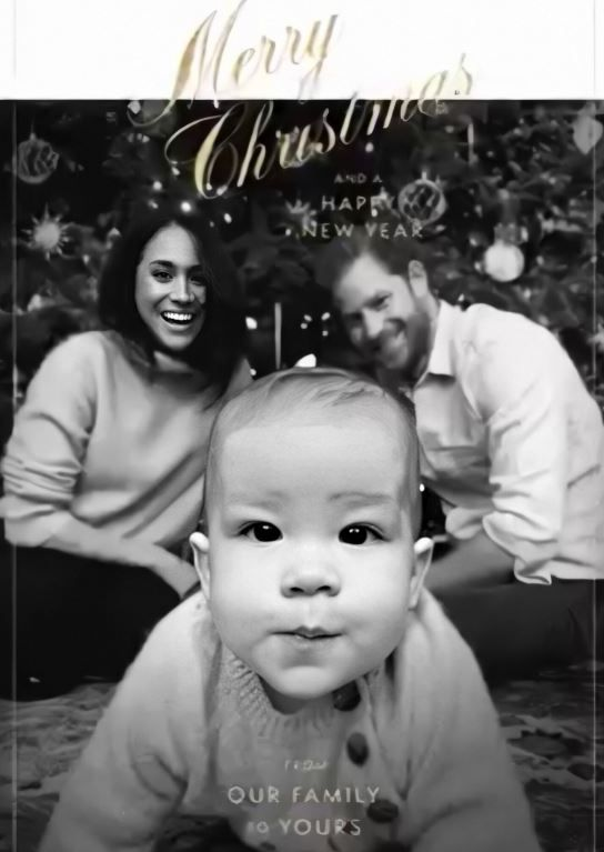 Digital Christmas card by the Duke and Duchess of Sussex
