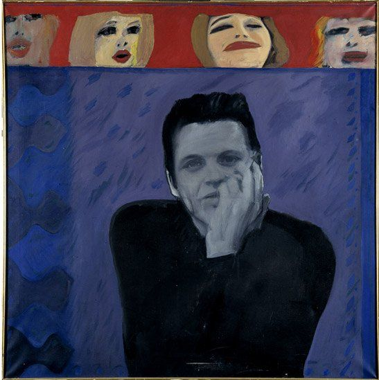 Portrait of Derek Marlowe with Unknown Ladies, 1962-3. Image courtesy of the owner