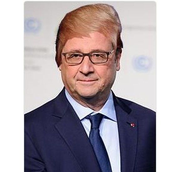 Pic of Hollande with blonde hair