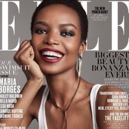 Maria Borges on the front page of Elle