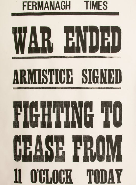 The Fermanagh Times printed notices to say the war was over
