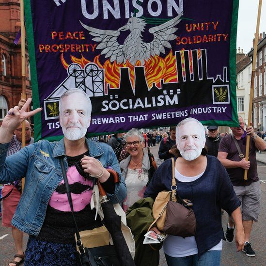 Parade of banners at the Durham Miners' Gala