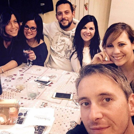 Picture of Richard and his wife with their Italian friends