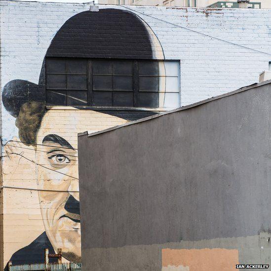 Painting of Charlie Chaplin