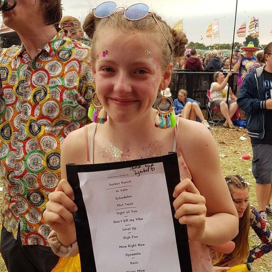Nina with Sigrid's set list