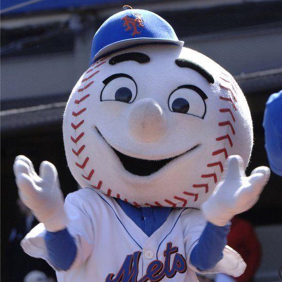 New York Mets' mascot Mr Met