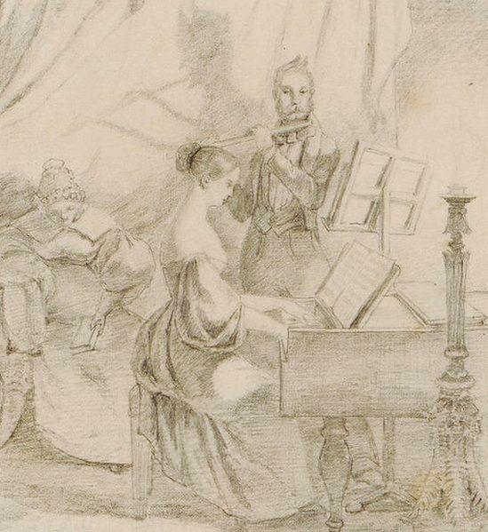 Das Klavierspiel by Carl Spitzweg