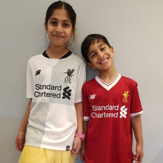 Hanaa, aged eight and Muhammad, six