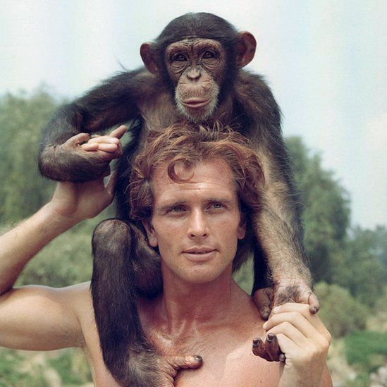 Ron Ely poses for the 1966 Tarzan TV series