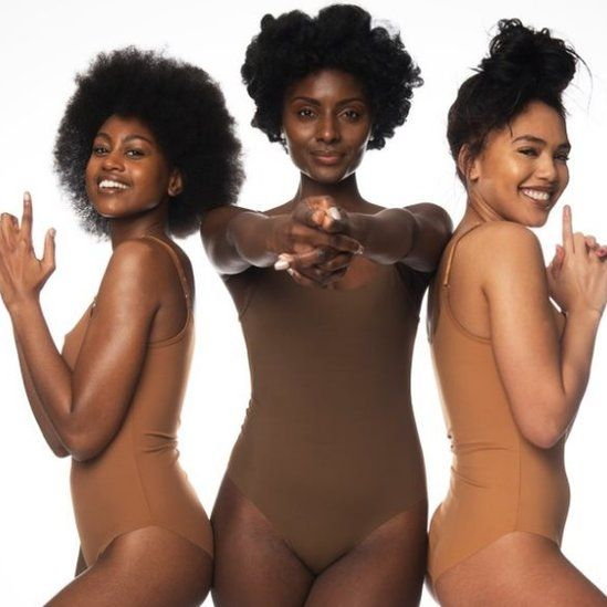 picture of women of colour in shades of nude underwear
