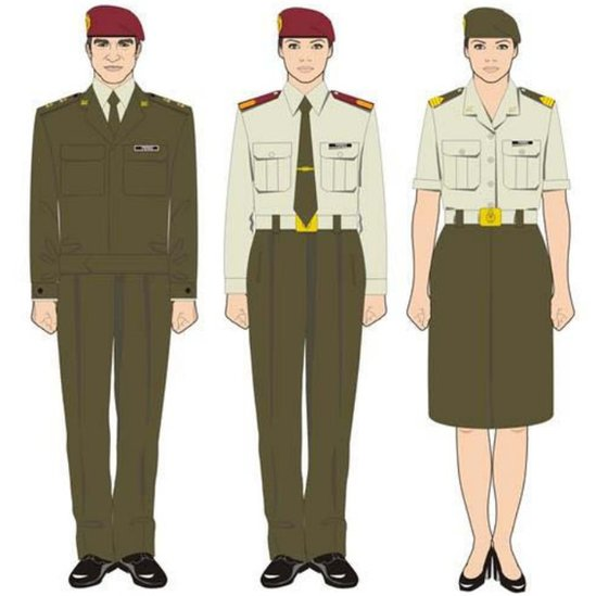 An example of Spanish military uniforms - provided by the Spanish government